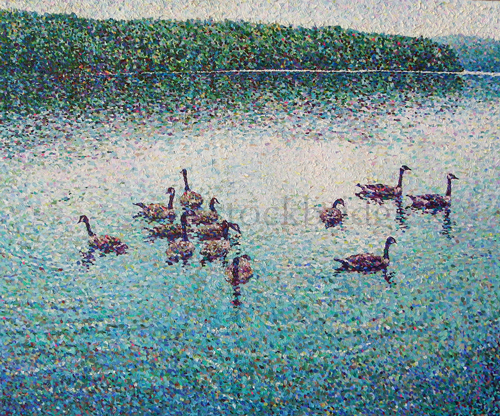 pointillist painting